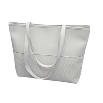 Braided Classic Tote Bag - White