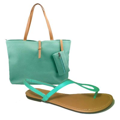 MATCH & GO COMBO - MINT SANDALS