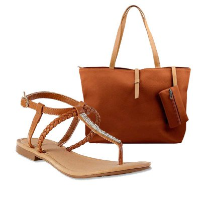 MATCH & GO COMBO - TAN SANDALS