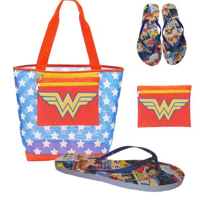 Wonder Woman Beach Tote w-Removable Pouch